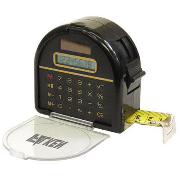 Printed Calculator tape measure with lock