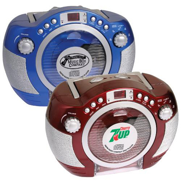 Customized Retro style CD player with AM/FM stereo