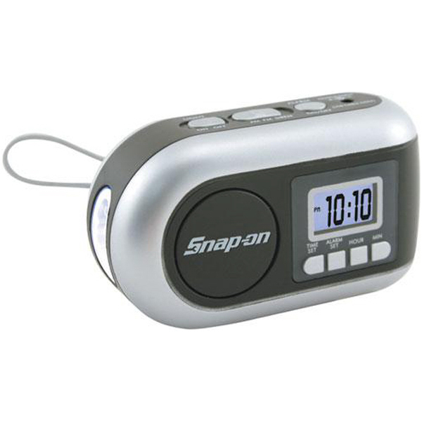 Custom Dynamo-powered AM/FM Radio/LED flashlight with alarm clock