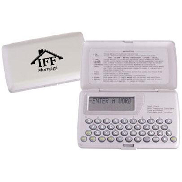 Promotional Spell checker with thesaurus and alarm clock