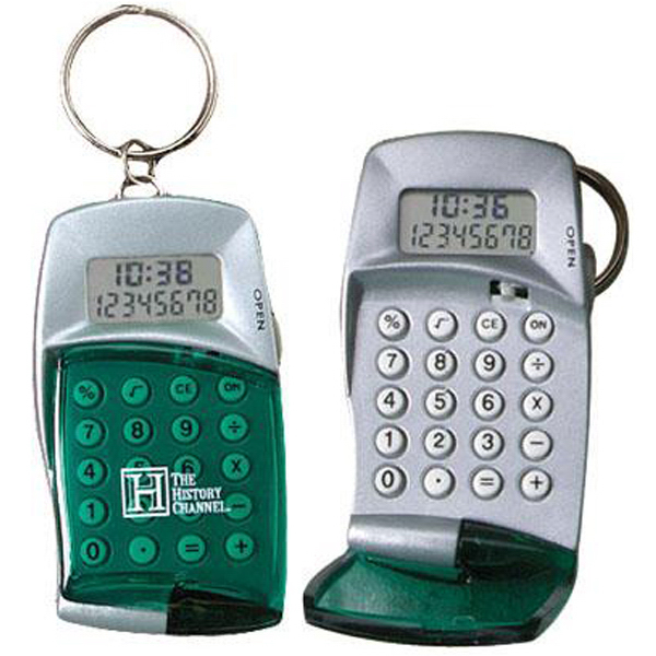 Custom HIgh-tech calculator with clock keyring
