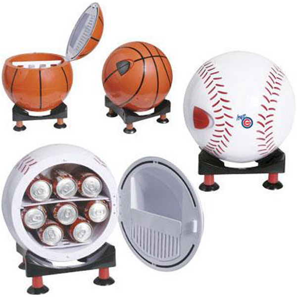 Customized Sport ball design mni refrigerator and warmer with base