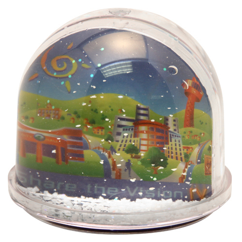 "Personalized 3 3/4"" large dome ""Do-it-yourself"" water ball"