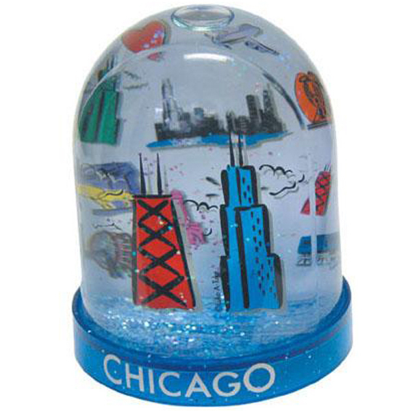 "Personalized 3 1/2"" large tower 2-level water ball"