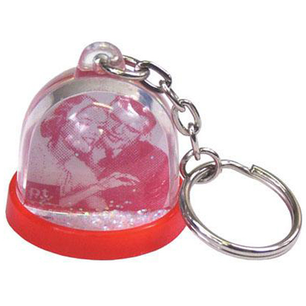 "Personalized 1 1/4"" mini ""do-it-yourself"" water ball key chain"