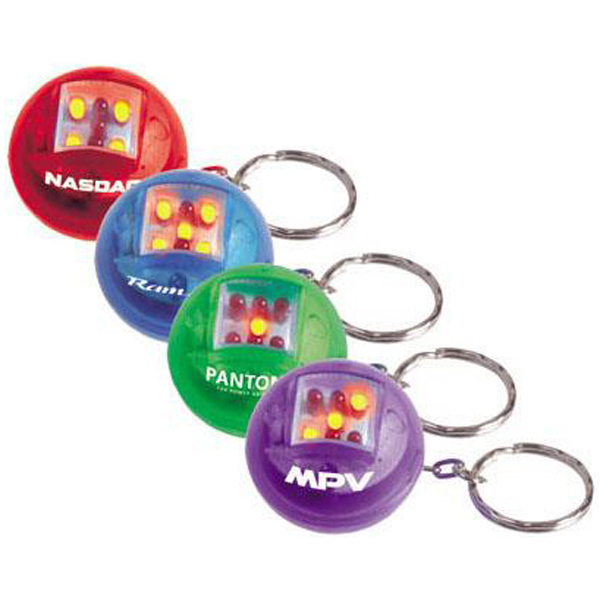 "Promotional 1 1/4"" electronic die key ring"