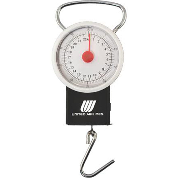 "Promotional 50 lb luggage scale with39"" tape measure"