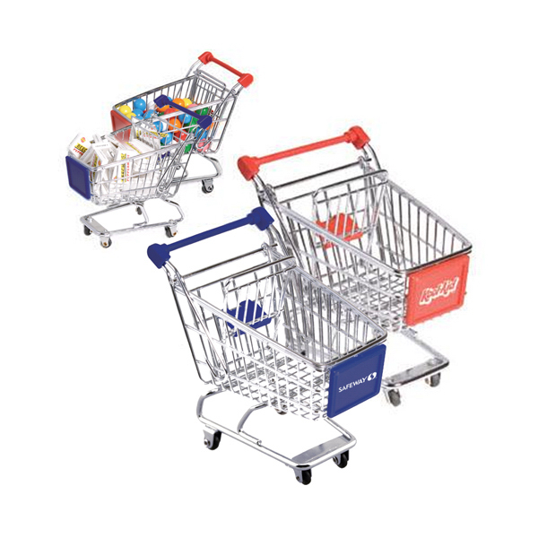 Imprinted Mini metal shopping cart