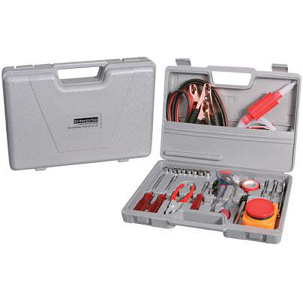 Customized 42-piece auto emergency travel kit
