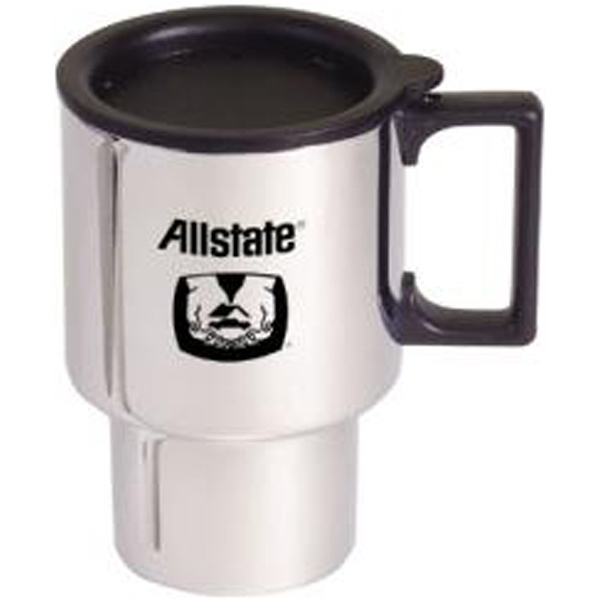 Printed Chrome finish stainless steel commuter mug