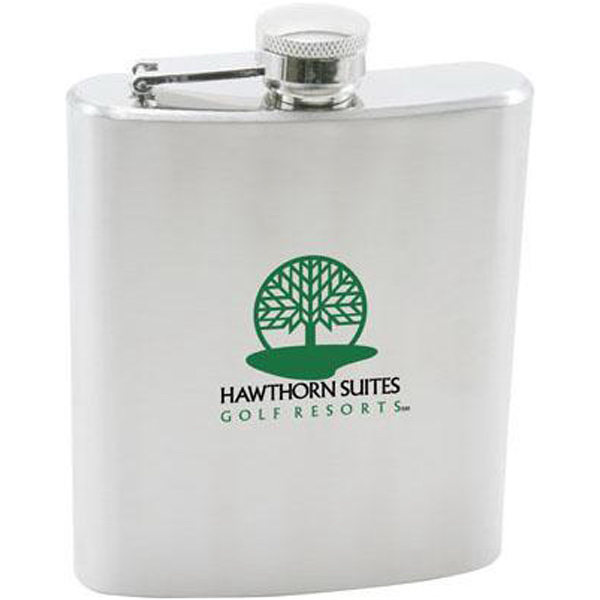 Promotional 7 oz stainless steel hip flask