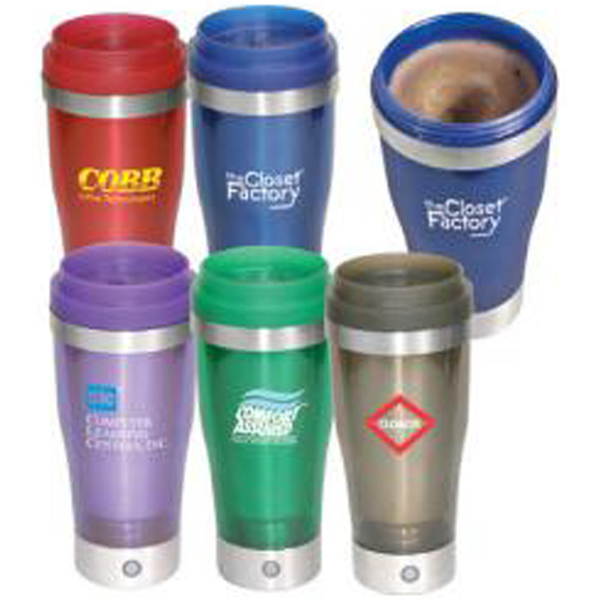 "Imprinted 14 oz acrylic/stainless steel ""Stir"" tumbler"