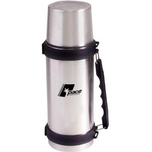 Customized 34 oz (1 liter) stainless steel vacuum bottle