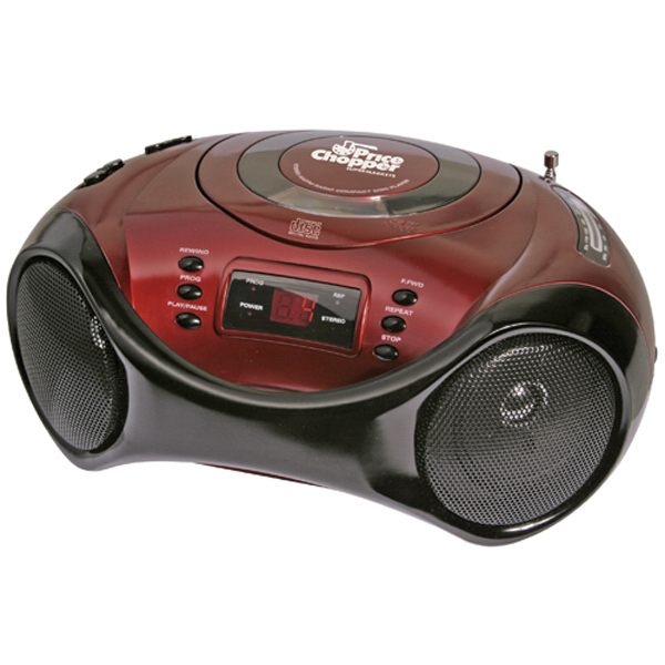 Printed Sport design portable stereo CD player with AM/FM radio