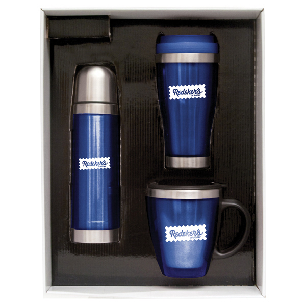 Promotional 17 oz (.50 liter) stainless/acrylic vacuum-insulated bottle