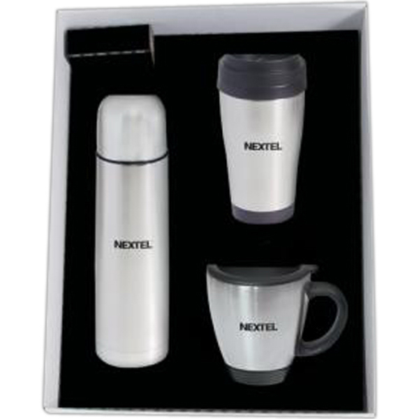 Promotional 17 oz (.50 liter) stainless steel vacuum insulated bottle