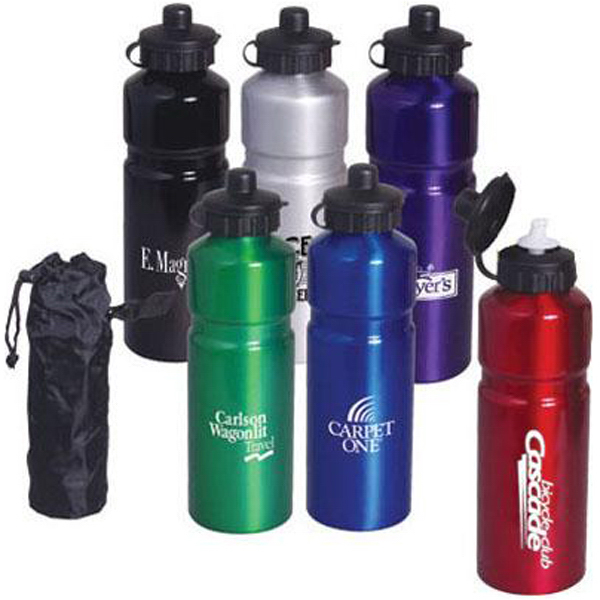 Custom 26 oz aluminum sports bottle