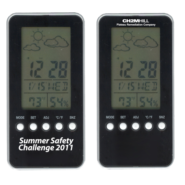 Custom Digital weather station with alarm clock