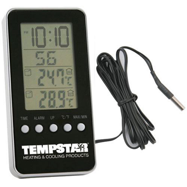 Personalized Indoor/outdoor digital thermometer alarm clock