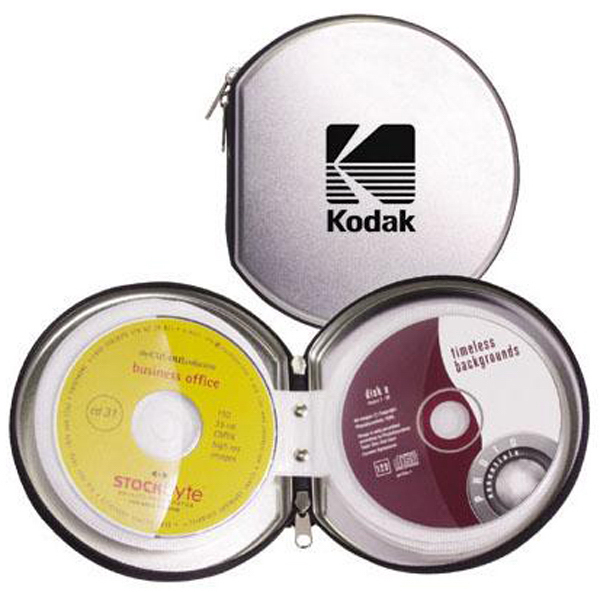 Promotional Zippered all-steel CD/DVD case