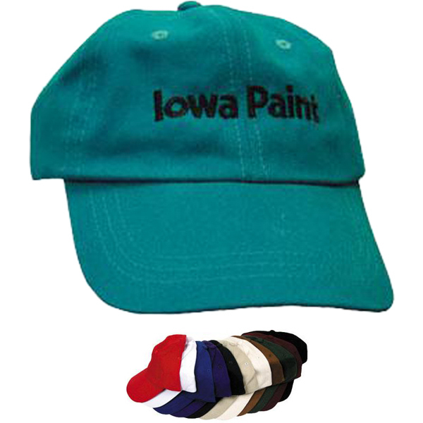 Personalized 6-panel low profile unstructured brushed cotton cap
