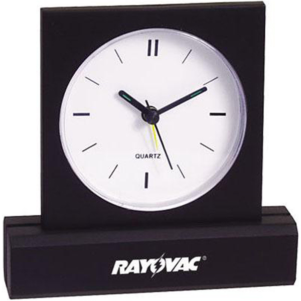 Promotional Rectangular-base desk clock with alarm