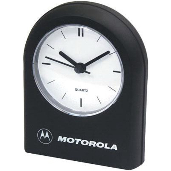 Imprinted Rounded-top desk clock with alarm