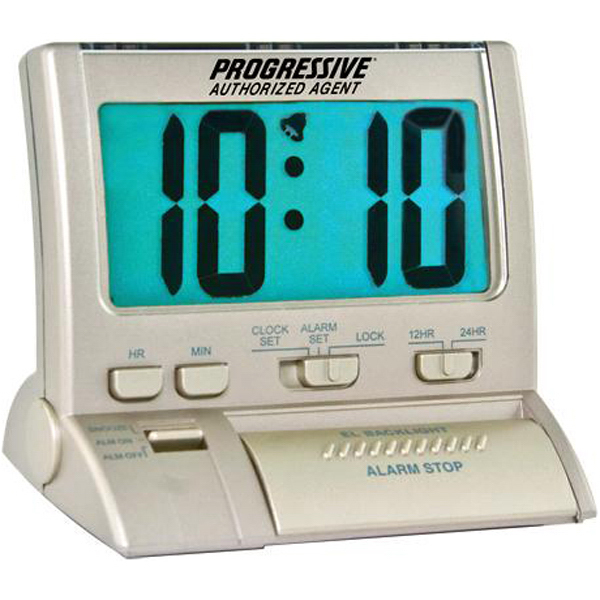 Printed Large digit backlit alarm clock