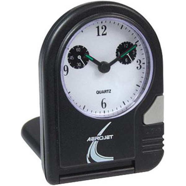 Printed Folding travel alarm clock with lighted dial