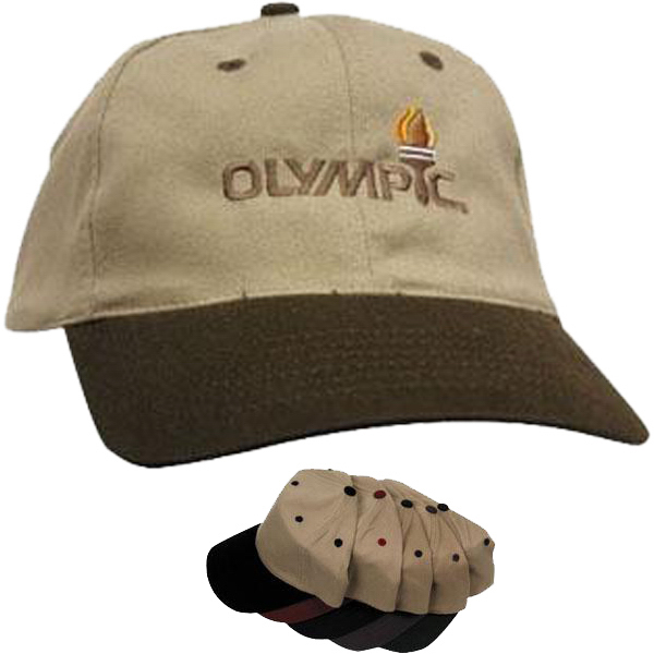 Customized 6-panel low profile cotton twill cap in 2-tone color