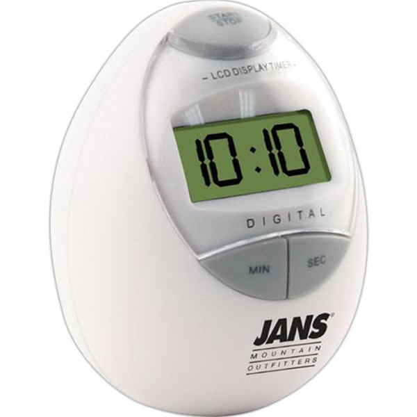 Printed Digital egg shaped kitchen timer