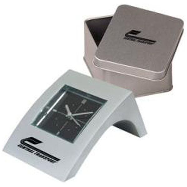 Personalized Mini angle aluminum alarm clock