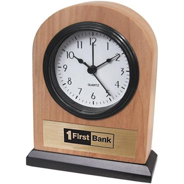 Custom Solid ash alarm clock