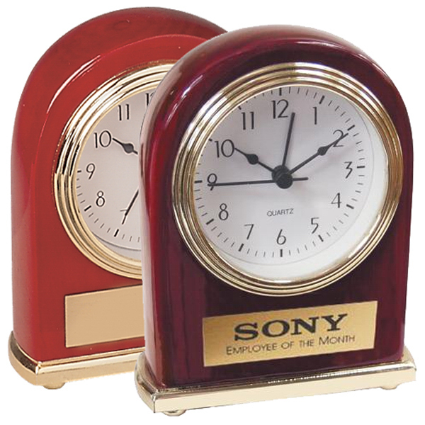 Personalized Rosewood or Walnut finish clock