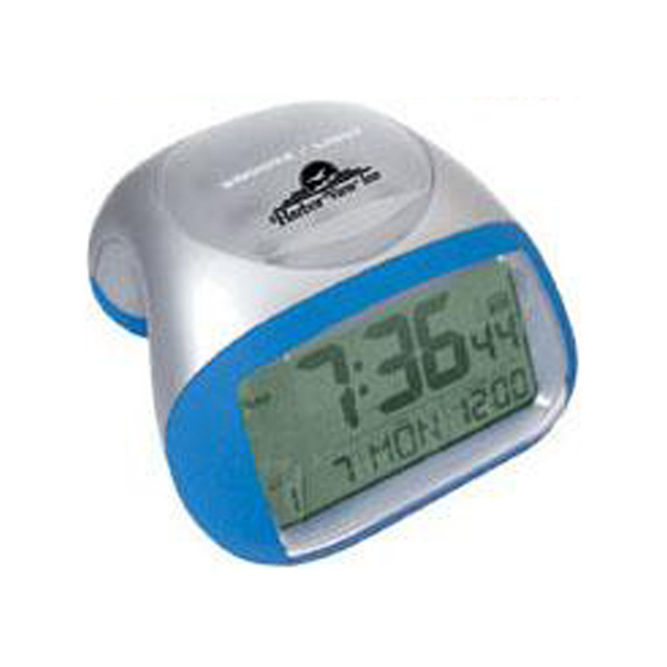 Promotional Radio-controlled 2-tone alarm clock with EL backlight