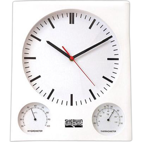 Printed Wall clock/thermometer/hygrometer