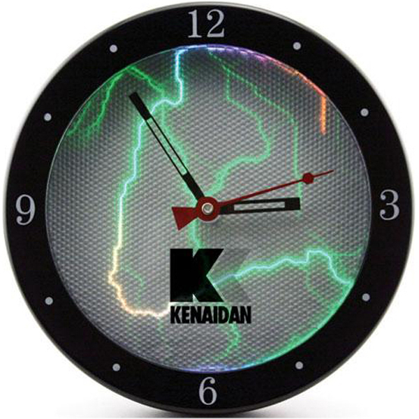 "Imprinted 9"" sound activated plasma wall clock"