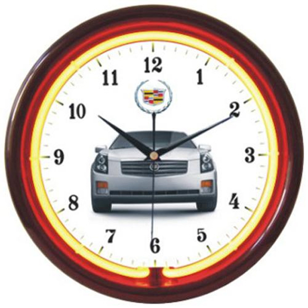 "Promotional 12"" diameter single-color neon wall clock"