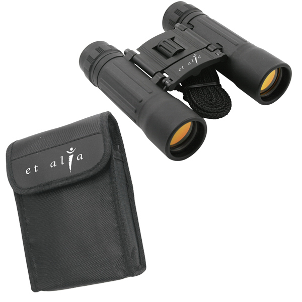 Personalized Compact 10 x 25 binoculars with nylon case