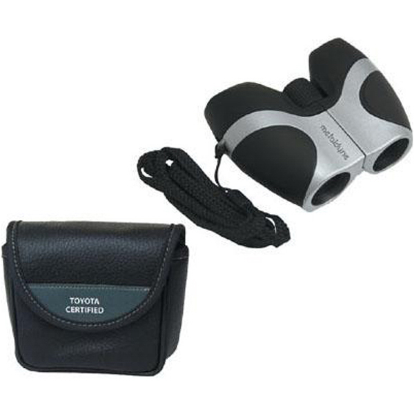Printed 8x21 pocket binoculars with deluxe case