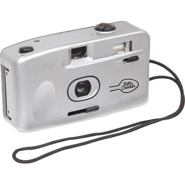 Imprinted 35mm camera with flash