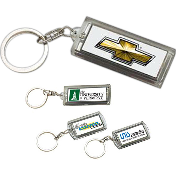 Promotional Solar flashing keychain