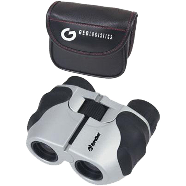 Imprinted 6-13 x 22 zoom lens sport binoculars with case