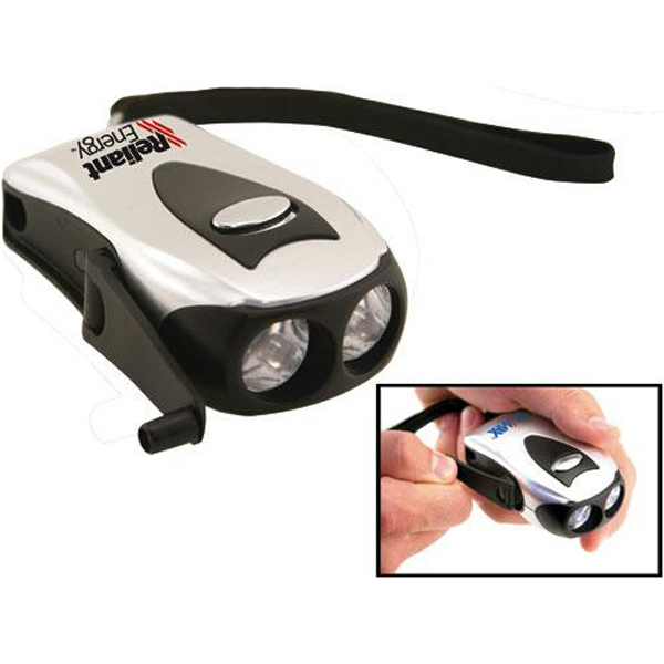 Customized Pocket Dynamo dual-LED flashlight
