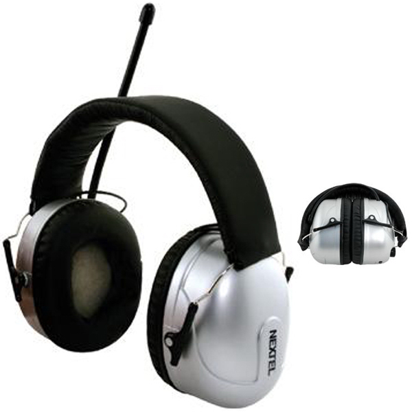 Personalized AM/FM radio noise blocking stereo headphones