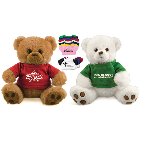 "Promotional 12"" plush bear with t-shirt"