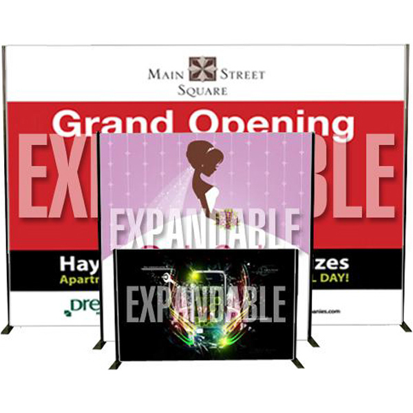 Imprinted Banner with expandable stand