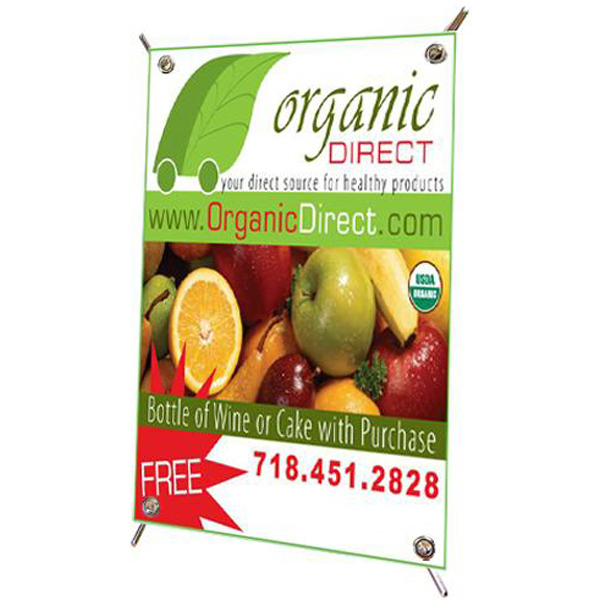 Personalized Mini banner with pop-up stand