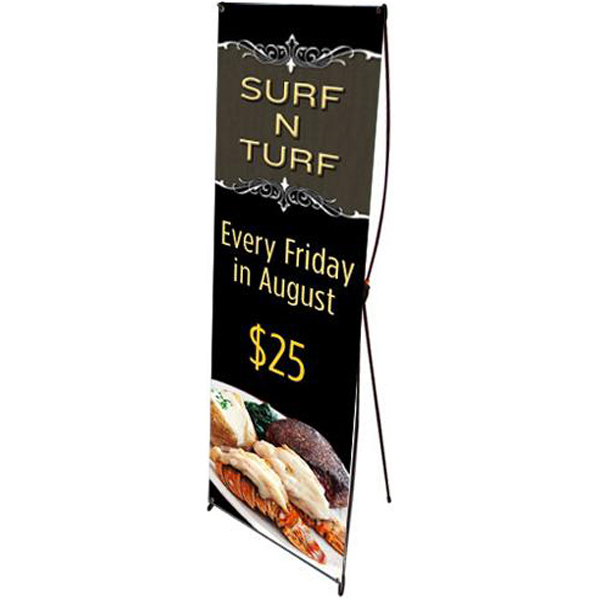 Personalized Banner with pop-up stand