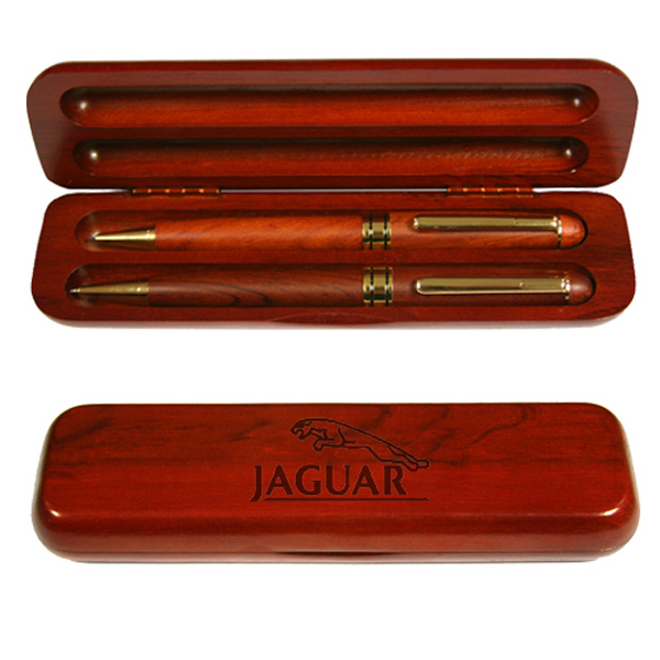 Custom Elegant wood pen and pencil set